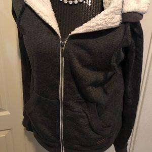 Women's Roxy Sweatshirt: Grey super warm! Sz lrg